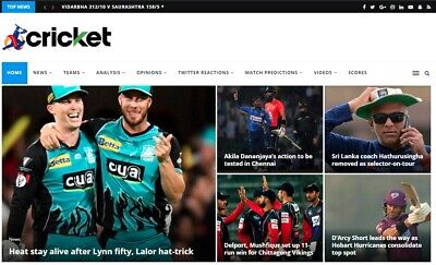 Automated Cricket News Wordpress Website - Turnkey Profitable Site
