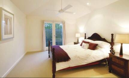 Large bedroom with ensuite and balcony in lovely Northcote house