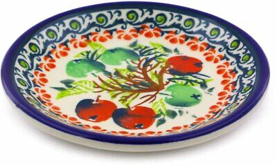 Small Polish - Polish Pottery Plate Small Red And Green Berries