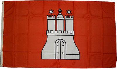 XXL Flagge Hamburg  250 x 150 cm mit Wappen Fahne Flag 2,5 x 1,5 m Sturmflagge