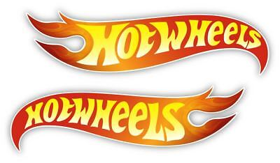 Hot Wheels Nascar Racing vinyl Bumper Sticker Decal left and right