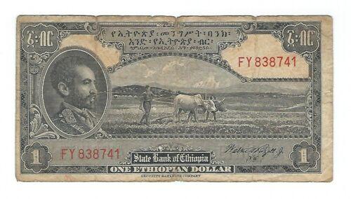 Ethiopia - One (1) Dollar  1945