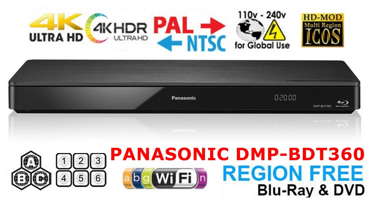 Panasonic DMP-BDT360 Region Free Blu Ray Player Code Free DV