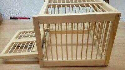 Jaula trampa en madera: puerta automática y barrotes de madera