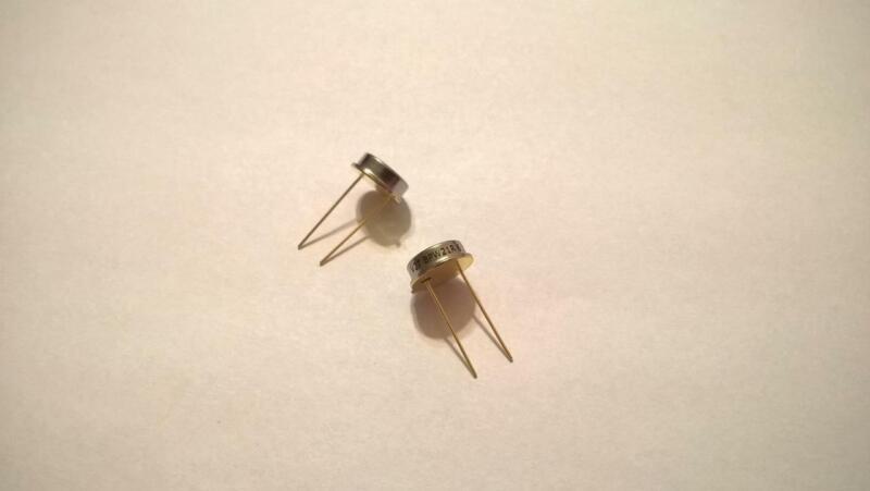 YMU7 Qty 2 pcs Vishay BPW21R Silicon PN Photodiode 565nm 50 Deg. 300mW TO-5 T/H