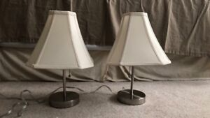 Silver / Beige Table Lamps