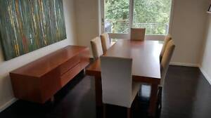 Dinning Room Table, Buffet and 6 Dinning Room Highback Chairs. Westleigh Hornsby Area Preview