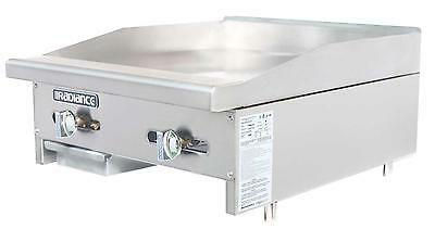 Radiance Tamg-24 24 Commercial Gas Flat Griddle Counter Top Manual Controls