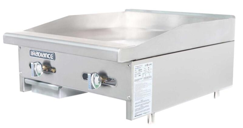 """Radiance Tamg-24 24"""" Commercial Gas Flat Griddle Counter Top Manual Controls"""