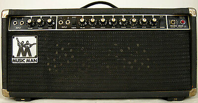 Music Man Guitar Amps - 1974 Music Man Sixty-Five Reverb 65-Watt Tube Electric Guitar Amplifier Head