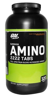 Optimum Nutrition Superior Amino 2222 Tabs   320 Tablets Amino Acids