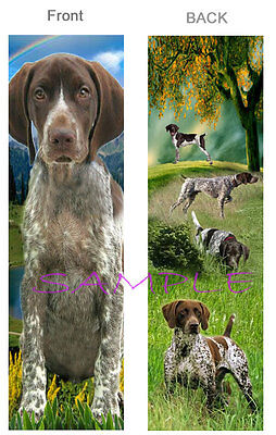 GERMAN SHORTHAIRED POINTER BOOKMARK Hunting DOG ART Puppy Fun Gift Card Figurine