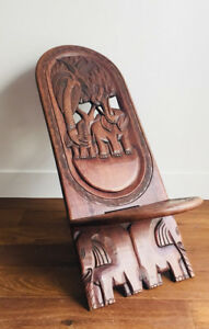 Chaise décorative éléphant / Malawi bantu folding chair