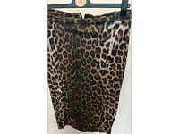Womans size 10 leopard print skirt