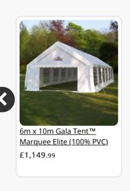 6m x 10m PE Gala Tent (not party tent!)