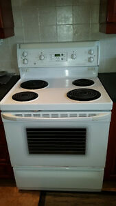 "GE 30"" Stove with Convection and Self Cleaning Oven"