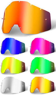GOGGLE-SHOP MIRROR LENS to fit 100% RACECRAFT ACCURI STRATA MX MOTOCROSS GOGGLES