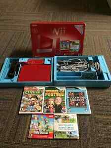 Nintendo Wii System in box like NEW with 5 games!
