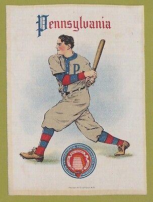 1910 LG Murad tobacco silk S21  UNIVERSITY OF PENNSYLVANIA Baseball Batter TOUGH
