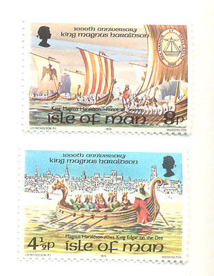The Vikings-King Magnus and Viking ships (2)mnh Isle of Man