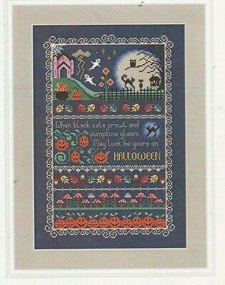 BLACK CATS AND PUMPKINS--Little Dove--Halloween--Counted Cross Stitch Pattern - Pumpkin Patterns Halloween