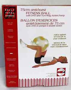 Bally Total Fitness Excercise Ball Yellow   H8Z1W9