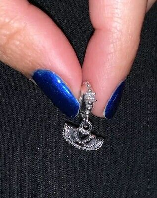 Authentic Pandora Silver HEARTS TIARA Crown Dangle Charm 791738CZ Sold Out New - Heart Crown Dangle