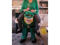 Piggy back leprechaun fancy dress costume