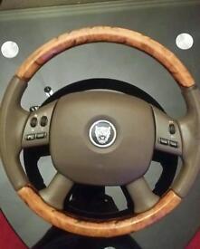 Jaguar x type wooden steering wheel