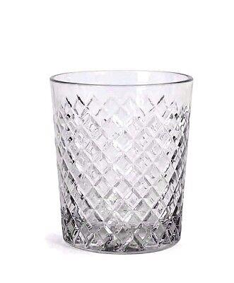 Diamond whisky glasses -box of 6- drinking glasses tumblers 360ml