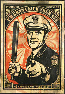 To-protect-and-serve-Police-poster-print