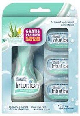 Schickk Intuition Sensitive Care Razor Handle + 4 Refill Cartridges -