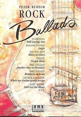 Peter Bursch's Rock Ballads - Band 1 für Gitarre + 1 Bleistift