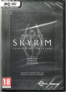 The Elder Scrolls V Skyrim Legendary Edition  'New & Sealed'  (PC-DVD)