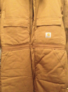 Carhartt Coveralls, Quilted Nylon Lining, USA made, size 44 Tall