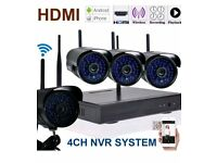 4CH Wireless NVR Kit System Plug & Play Black / White + 500gb HDD
