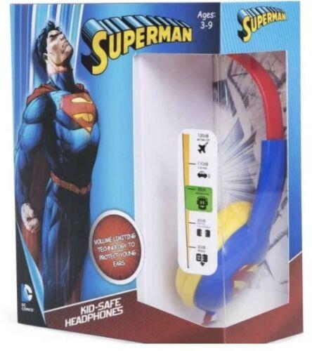 SUPERMAN Headphones Kid Safe Volume Limiting ADJUSTABLE BAND