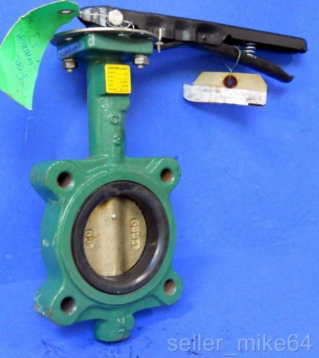 "CENTER LINE SERIES 200, BUTTERFLY VALVE, 3"" DISC, 200 PSI, DISC ALBRZ, NNB"