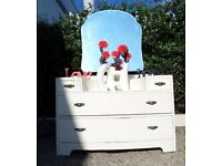 Beautiful Shabby Chic Bedroom Dressing Table - UK Delivery