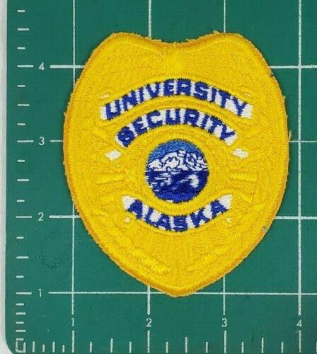 ALASKA UNIVERSITY SECURITY POLICE PATCH - CLOTH BACK