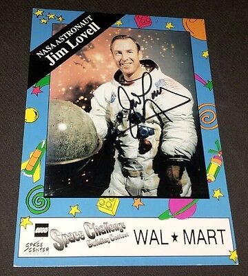 Autographed Signed Auto Jim James Lovell Wal Mart Nasa Astronaut 5 X 7 Photo
