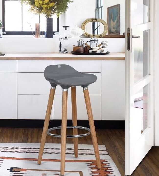 Miraculous Grey Breakfast Bar Stools X 2 In Leicester Leicestershire Gumtree Bralicious Painted Fabric Chair Ideas Braliciousco