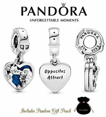 Authentic S925 Ale Pandora Disney Lady and the Tramp Heart Dangle Charm 798634C0