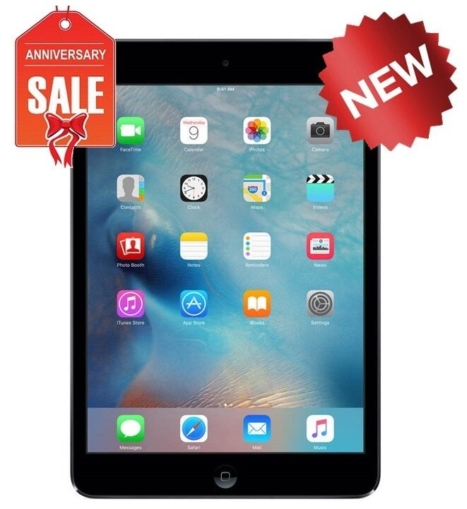 NEW Apple iPad mini 2 16GB, Wi-Fi + 4G Cellular (Unlocked), 7.9in - Space Gray