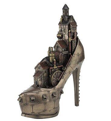 """10.25"""" Steampunk """"Stiletto Hill Ironopolis"""" Statue Gothic Decor Sculpture"""