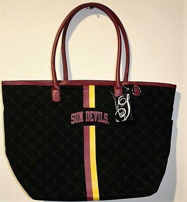 NCAA licensed Arizona State University Sun Devils Canvas Tote Bag Handbag Purse Ncaa Arizona State University