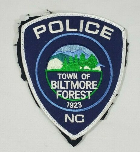 TOWN OF BILTMORE FOREST NORTH CAROLINA POLICE PATCH  - SEWN ON JACKET MATERIAL