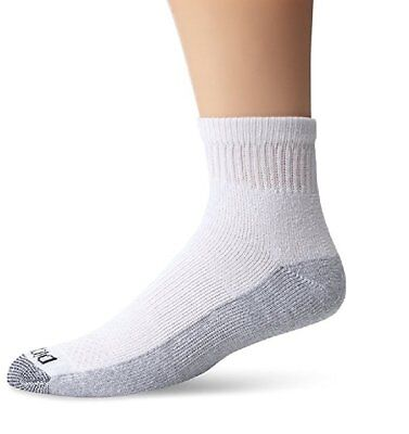 Dickies 5-Pair Quarter / Ankle Style Work Socks White 10/13 Sock 6/12 Shoe