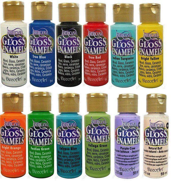 DecoArt Gloss Enamels Paint Glass Wood Tiles Ceramics 2oz ~ PICK YOUR COLOR