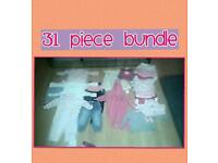 Baby girls 6-9 month clothing bundle, 31 piece